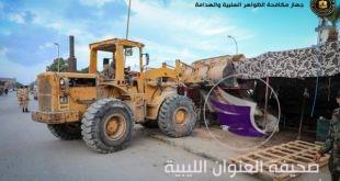 جهاز مكافحة الظواهر السلبية والهدامة يواصل إزالة العشوائيات في بنغازي