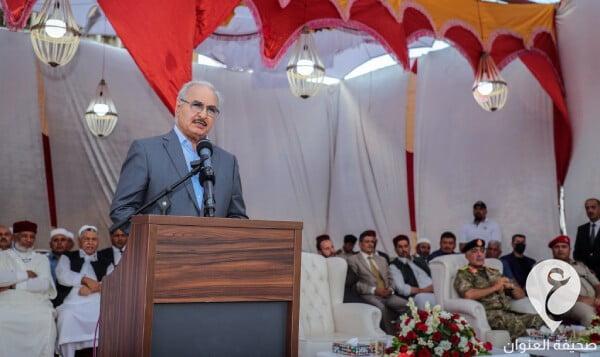 القائد العام للقوات المسلحة المشير خليفة حفتر