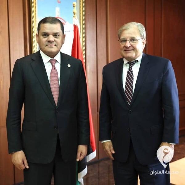 رئيس الحكومة عبدالحميد الدبيبة يلتقي في تونس مع السفير والمبعوث الخاص الأمريكي ريتشارد نورلاند